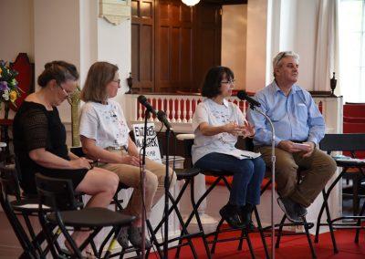28 Catonsville Community Event - Ellen Grady, Ellen Barfield, Lynn Romano & Paul Magno