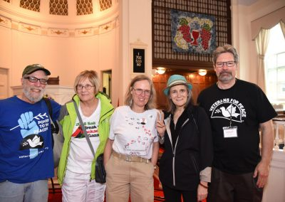 32 Catonsville Community Event - Dave Schott, Ann Wright, Ellen Barfield, Amy Goodman and Dennis DeBoy